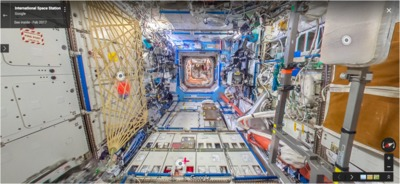Google maps interior view of ISS