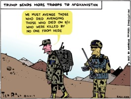 Ted Rall: Donald Trump Sends More Troops to Afghanistan