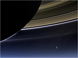 Earth (and Moon) from Saturn