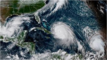 Hurricanes Katia, Irma, and Jose on 2017-09-07