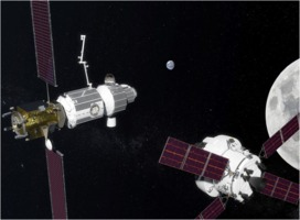 Deep Space Gateway and NASA Orion craft