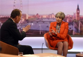 Andrew Marr interviews Theresa May