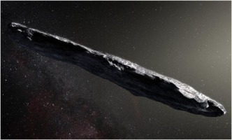 Artist's impression of 'Oumuamua asteroid
