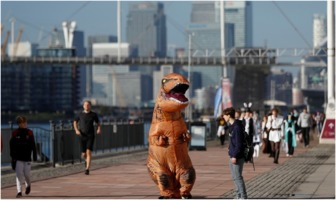 T-Rex costume at London Comic Con