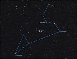 Constellation Leo with Regulus