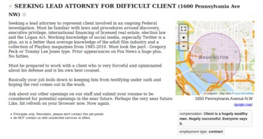 Seeking lead attorney for difficult client