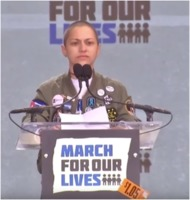 Emma González speaking at The March for Our Lives on 2018-03-24