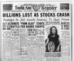 Great Depression Newspaper