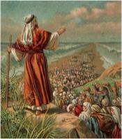 Moses parts the Sea