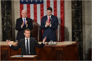 French President Emmanuel Macron addresses US Congress, 2018-04-25