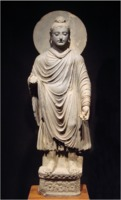 Standing Buddha statue at the Tokyo National Museum
