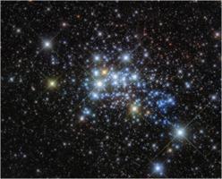 Westerlund 1 star cluster, by HST