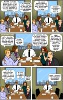 Nitrozac & Snaggy: The Joy of Tech comic 2513: Mindfulness exercise