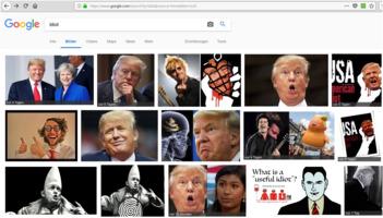 Google idiot: Trump