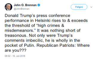 John O. Brennan: Trump's press conference performance treasonous