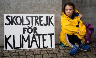 Greta Thunberg on school strike