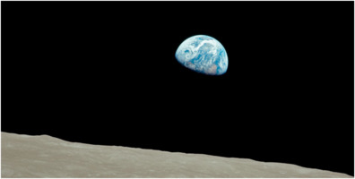 Earthrise, by Apollo 8 on 1968-12-24
