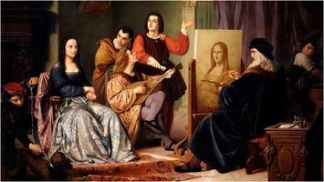Cesare Maccari: Leonardo Painting the Mona Lisa
