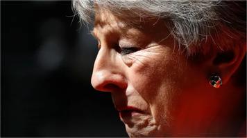 Theresa May crying