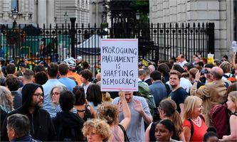 2019-08-28 Protest against proroguing Parliament
