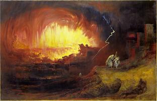 John Martin: The Destruction of Sodom and Gomorrah, 1852 painting