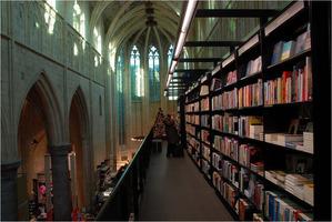Interior of Selexyz Dominicanen bookstore in Maastricht