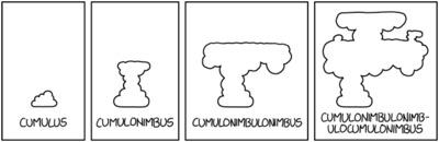 Randall Munroe: xkcd 2185: Cumulonimbus