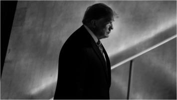 Donald Trump in shadows