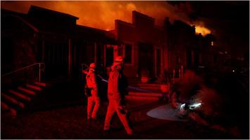 Kincade fire burns near Healdsburg, California