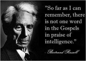 Bertrand Russell: Gospels vs. intelligence