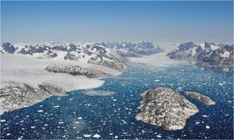 Greenland glaciers calving icebergs