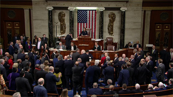 Voting on House Resolution 755: Impeachment of Donald Trump