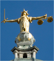 Lady Justice on dome of Old Bailey