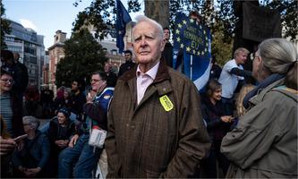 John le Carré at pro-EU rally